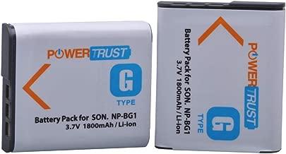 PowerTrust 2X NP-BG1 NP BG1 FG1 Battery for Sony DSC-H3 DSC-H7 DSC-H9 DSC-H10 DSC-H20 DSC-H50 DSC-H55 DSC-H70 DSC-HX30V DSC-W290 DSC-WX1 DSC-HX10V Cameras