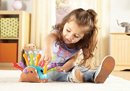 Learning Resources Spike The Fine Motor Hedgehog, Sensory, Fine Motor Toy, Toys for Toddlers, Ages 18 months+