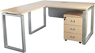 Mahmayi Carre Modern Workstation Desk, Oak, 160 x 140 x 75 cm, ME5114LOak