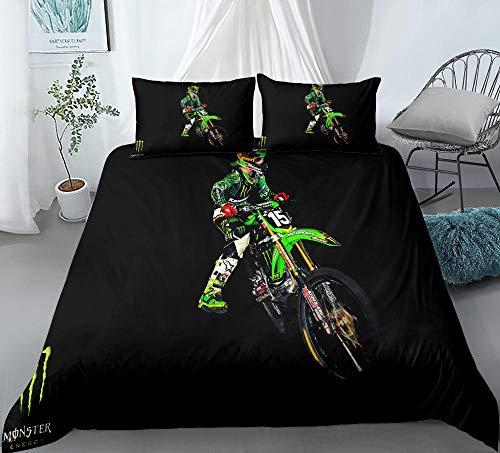 Prinbag Extreme Mountain Bike Passion 3D Bedding Luxury Designer Duvet Cover Comforter Pillowcase Sets Full Size 150x200cm + 50x75cm * 2