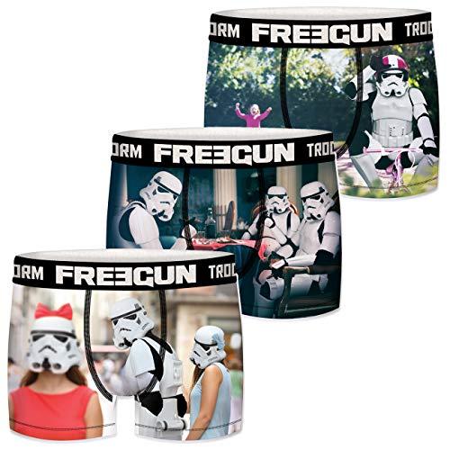 FREEGUN Star Wars Herren Boxershorts Funny Stormtrooper Krieg der Sterne Meme Druck 3er Pack S M L XL XXL, Größe:L, Farbe:Motivmix 6