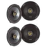 KICKER CSC65 CS Series 6.5 Inch 300 Watt 4 Ohm 2-Way Car Audio Coaxial Speakers System with...