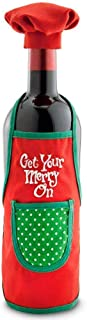 Get Your Merry On Bottle Apron Chef Set