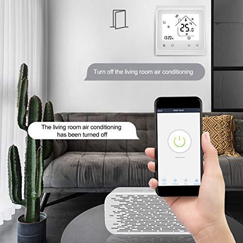 SALALIS Termostato Programación de temporización Termostato de calefacción Control de Voz, Adecuado para Estufas de Pared con Manual de Usuario
