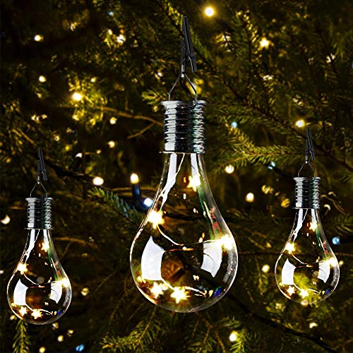 Lámpara de jardín con paneles solares, LED, 1,2 V, resistente al agua, lámpara solar giratoria, lámpara de jardín para camping, lámpara colgante de estrella