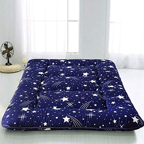 dongyu Colchón de esponja de Tatami de color puro, colchón de piso extra grueso, colchón de piso, plegable, tatami, colchón portátil de camping (tamaño: 180 x 200 cm, color: B)
