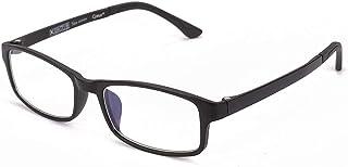 Cyxus(シクサズ)ブルーライトカットメガネ [透明レンズ] 超軽量TR90 pcメガネ パソコン用メガネ UVカット アンチグレア 輻射防止 UVカット 目の疲れを緩和 肌に優しい 睡眠改善 ファッション 男女兼用(ブラック)