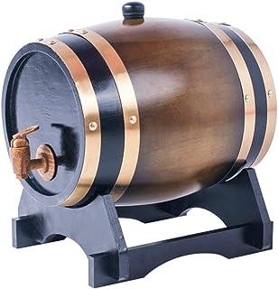 Tonneau de Vin en chêne Fût de chêne Seau de Stockage en Chêne de 3 litres, Distributeur de Seaux à Whisky pour Conserver ...