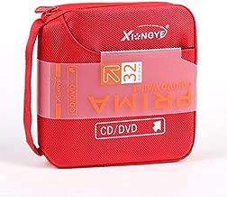 New 32 Disc CD DVD Portable Wallet Storage Organizer Holder Case Bag Album Box - Red