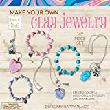 Hapinest Make Your Own Clay Jewelry Arts and Crafts Kit for...