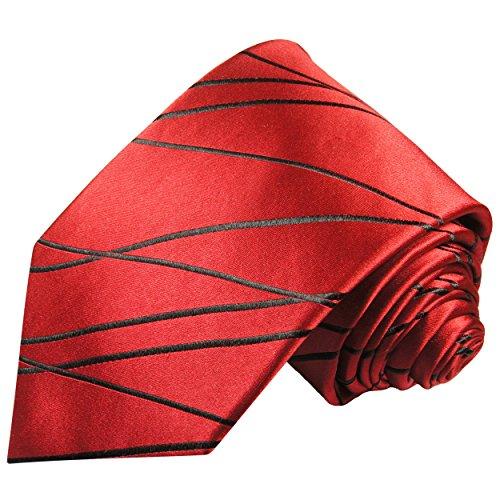Paul Malone Rote Krawatte 100% Seidenkrawatte