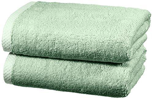 Amazon Basics - Juego de 2 toallas de secado rápido, 2 toallas de mano - Verde