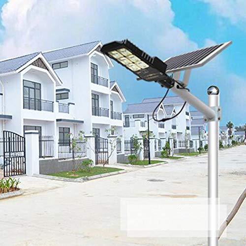 QLIGHA 150 W Calle Solar Luces de inundación lámpara al Aire Libre, 432 Leds 9000 LM con Control Remoto, Control de luz, Sensor de Movimiento para la Carretera, Granja, Estacionamiento