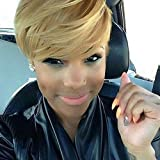 Naseily Short Blond Haircuts Synthetic Short Hair Wigs for Black Women Natural Short Hairstyles for women (911Blonde)