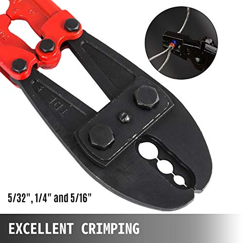 Mophorn Hand Swager Crimper 30 Inch,Swaging Tool for 5/32