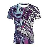 Aatensou Guardians of The Galaxy K6.160 - Camiseta de manga corta unisex para niños y adolescentes, diseño 3D