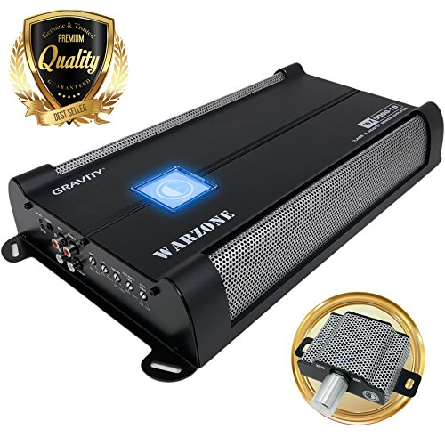 Car Amplifiers - Gravity Audio WZ5000.1D Warzone 5000W Class D Amp 1/2/4 Ohm Stable with Remote Sub Control