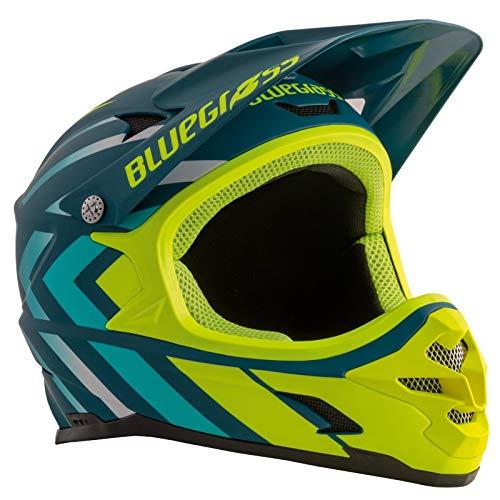 Met Helm Bluegrass Intox blau AMA (58-60) Fahrradhelm Unisex Erwachsene Mehrfarbig Gelb
