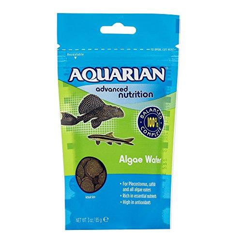 AQUARIAN Nutrición Completa, Algas de Acuario Comedor de Peces Algas, Obleas de Algas hundidas, Bolsa de 28 g