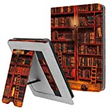 Fintie Stand Case for Kindle Paperwhite (Fits All-New 10th Generation 2018 / All Paperwhite Generations) - Premium PU Leather Protective Sleeve Cover with Card Slot and Hand Strap, Library