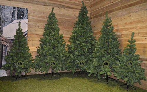 Samuel-ALEXANDER-4ft-5ft-6ft-7ft-or-8ft-Christmas-Tree-in-Plain-Green
