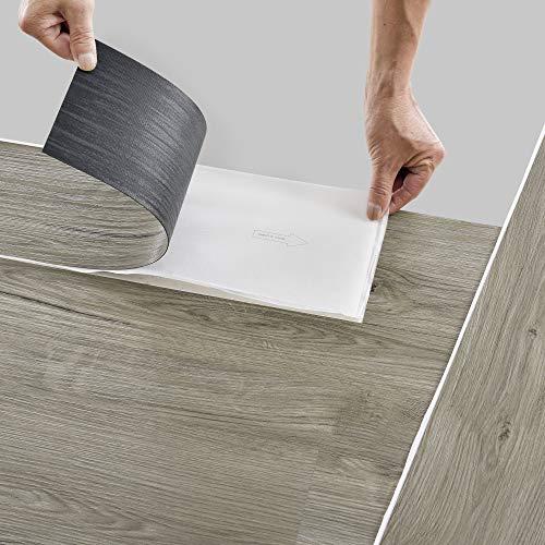 neu.holz Bodenbelag Selbstklebend 5,85 m² 'Natural Oak' Vinyl Laminat 42 rutschfeste Dekor-Dielen für Fußbodenheizung