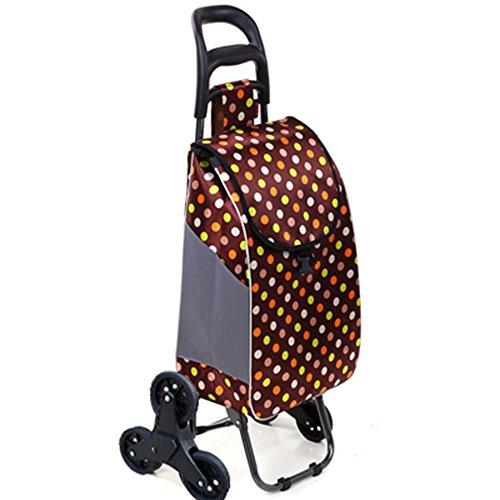 Einkaufstrolley Warenkorb Climb Treppen Trolley Old Man Portable Faltbarer Trolley Trolley Trolley Barbar (Farbe : 6#, größe : B)