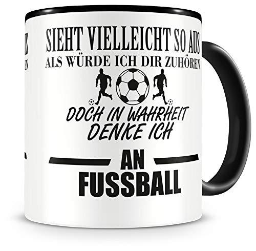 Samunshi® Ich denke an Fussball Tasse Kaffeetasse Teetasse Kaffeepott Kaffeebecher Becher
