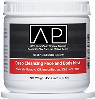 AZTEC PREMIUM , Indian Healing Clay 1 lb , Deep Pore Cleansing Face & Body Mask Powder , STERILIZED Without Radiation, Chemicals or Preservatives , 100% Natural & Organic Calcium Bentonite Clay