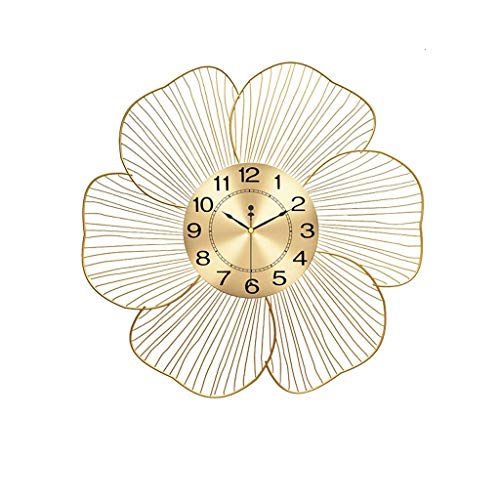 Reloj De Pared Creativo Pétalo Pared Reloj Sala De Estar Decoración Grande Pared Reloj Redondo Grande Tamaño Moderno Simple Reloj De Pared Dormitorio Pared Reloj De Pared Oro Madera De Madera