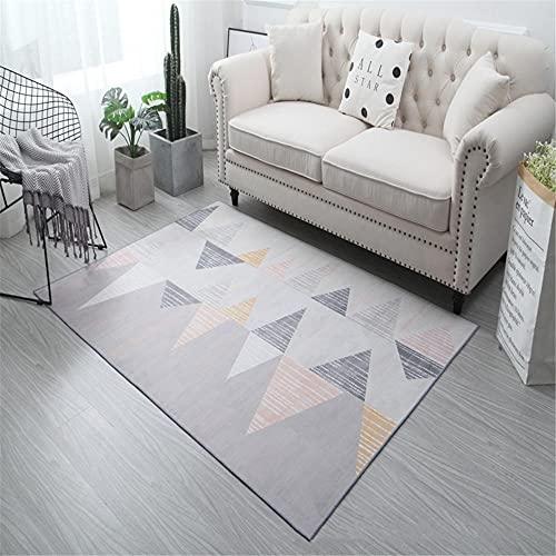 cuadros cabecero cama matrimonio alfombras infantiles niña La alfombra de terciopelo de cristal gris es lisa, peluosa y resistente a la suciedad. alfombra recibidor 120X180CM 3ft 11.2'X5ft 10.9'