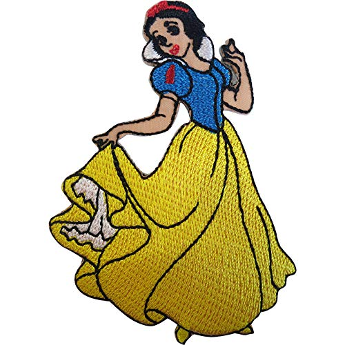 ELLU Disney Princess Snow White Patch Embroidered Badge Iron Sew On T Shirt Jeans Bag