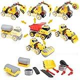 FORMIZON Montage Spielzeug Auto LKW, 7 in 1 Baufahrzeug mit Schraubenzieher DIY Auto, Kinder Auto Spielzeug für Lastwagen Lernspielzeug Kinder Mädchen Jungen