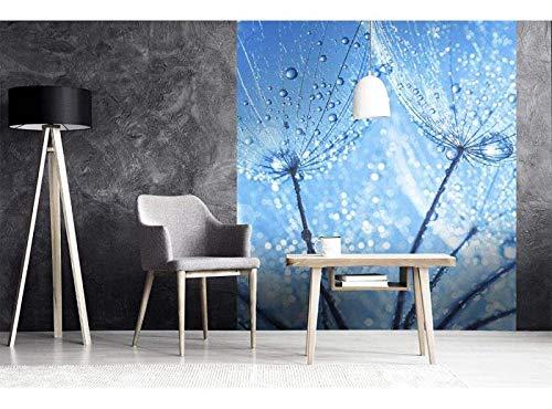 Vlies Fotobehang PAARDEBLOEM WATERDALINGEN | Niet-Geweven Foto Mural | Wall Mural - Behang - Reusachtige Wandposter | Premium Kwaliteit - Gemaakt in de EU | 225 cm x 250 cm