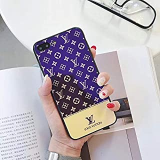 LIFE STORY iPhone 6S Case, iPhone 6 Case, Tempered Glass Back Fashion Style Elegant Luxury Designer Monogram Classic Pattern Scratch Resistant Durable Hard Case for iPhone 6S iPhone 6