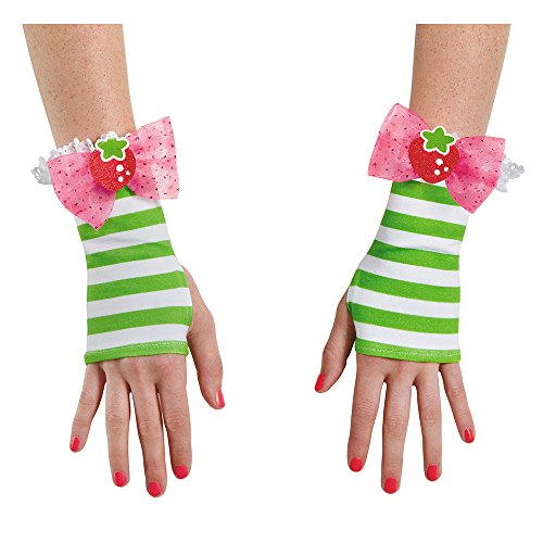 Disguise Women's Strawberry Shortcake Adult Glovettes, Multi, One Size