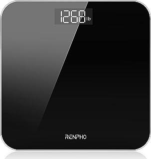 RENPHO Digitale Badkamerweegschaal Weegschaal met Hoge Precisie Voor Het Lichaam met Groot LED-Display, Step-On-Technologi...