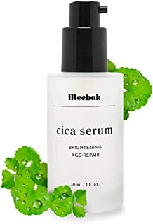 Meebak Cica Face Serum 1oz with Hyaluronic Acid and Natural Ingredients, Anti-Aging, Anti-Wrinkles