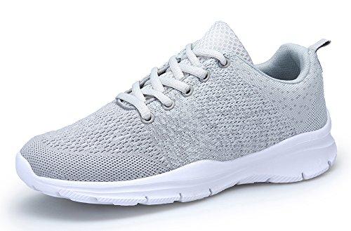DAFENP Unisex Uomo Donna Scarpe da Ginnastica Corsa Sportive Fitness Running Sneakers Basse Interior Casual all'Aperto,XZ747-M-gray-EU36