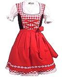 Kiddy Tracht Bambini Dirndl Abito Tradizionale Bavarese Dirndl Set 3 Pezzi Costume Oktoberfest Carnevale Donna Taglia 92-152 (128)