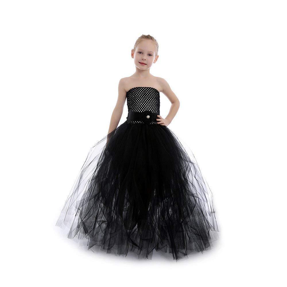 Ranking TOP12 Solid Black Flower Girls Austin Mall Tulle Tutu P Birthday Dress for Wedding