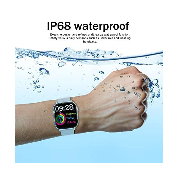 Reloj Inteligente IP68 Impermeable Cronómetro Pulsera Actividad Fitness Podómetro 1.4 Pulgadas Toque Pantalla Completa… 7
