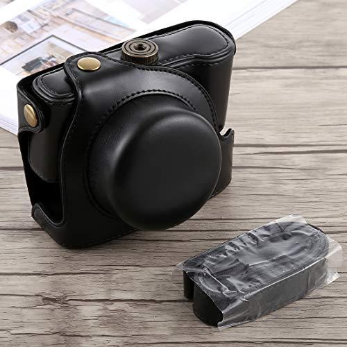 Consumer YHM Ganzkörperkamera PU-Ledertasche mit Trageriemen für Panasonic LUMIX LX100 (Schwarz) (Color : Black)