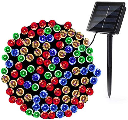 Solar String Lights, 72ft 200 LED 8 Modes Outdoor String Lights, Waterproof Solar Fairy Lights for Garden, Patio, Fence, Holiday, Party, Balcony Decorations (Multicolor)