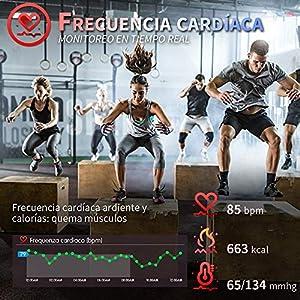 HOFIT Pulsera Actividad Reloj Inteligente Fitness Tracker Podómetro Monitor de Sueño Contador de Calorías Pasos Rastreador de Ejercicios Reloj Salud Deportiva para Mujeres Hombres