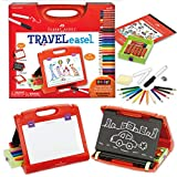 Product Image of the Faber-Castell Do-Art 3-in-1 Travel Easel - 30 Piece Tabletop Easel for Kids with...