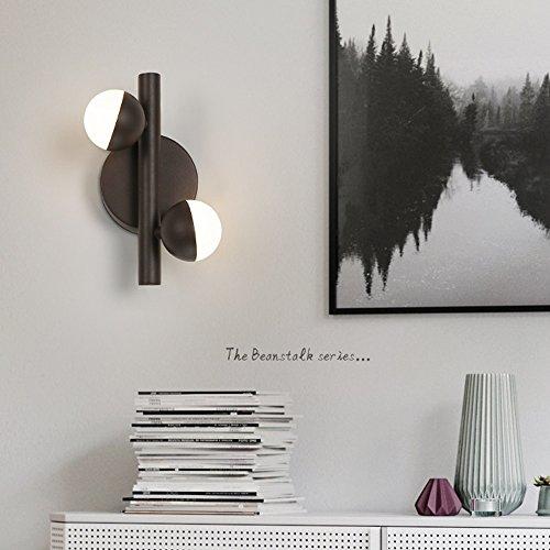 Moderne led-wandlamp creatieve eenvoudige industriële 2/3 hoofd magische lamp warm licht doorgang veranda trap platenspeler lamp kunst bedlampje decoratieve verlichting