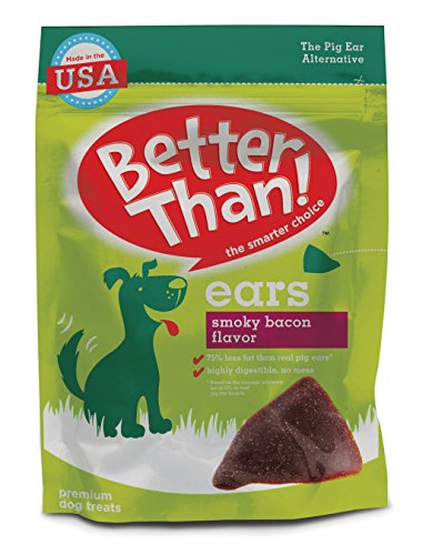 Better Than Ears Premium Mini Dog Treats, Smoky Bacon Flavor, 15 Count Pouch