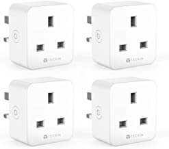 Smart Plug WiFi Socket TECKIN 16A Energy Monitoring Works with Amazon Alexa Google Home and IFTTT Timing Function Remote Control No Hub Required (4 PACK)