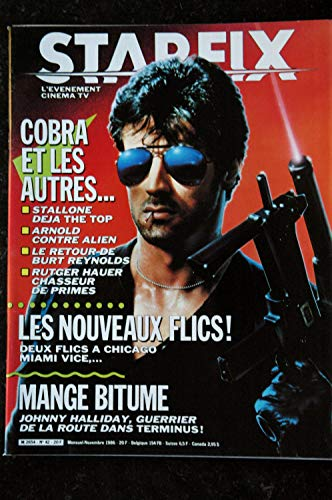 STARFIX 042 n° 42 * 1986 * COVER SYLVESTER STALLONE + POSTER COBRA ARNOLD JOHNNY HALLYDAY LES NOUVEAUX FLICS